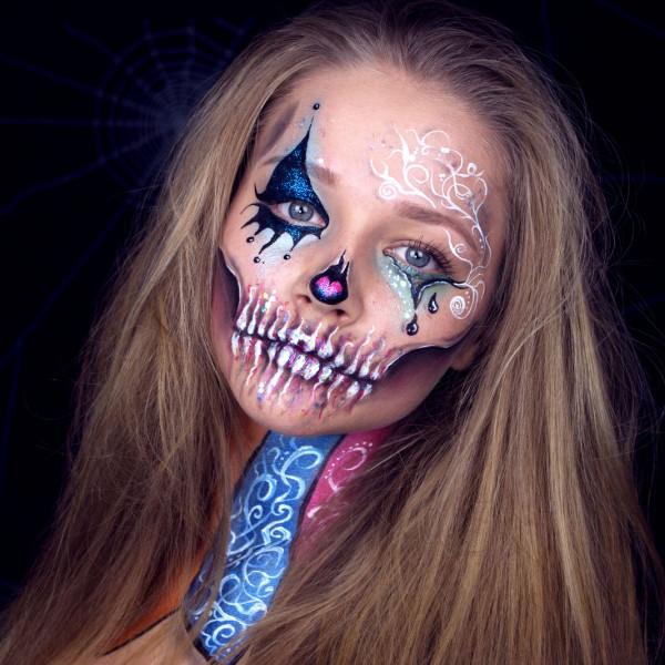 Kinderschminken halloween make up