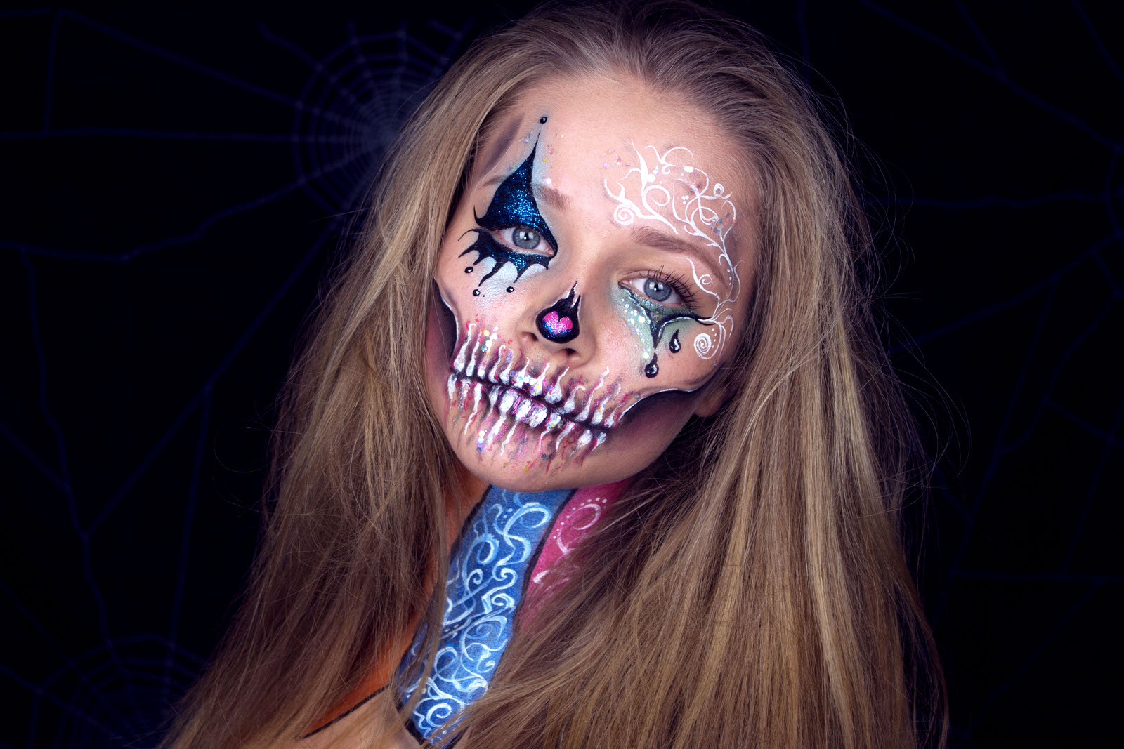 Kinderschminken halloween make up