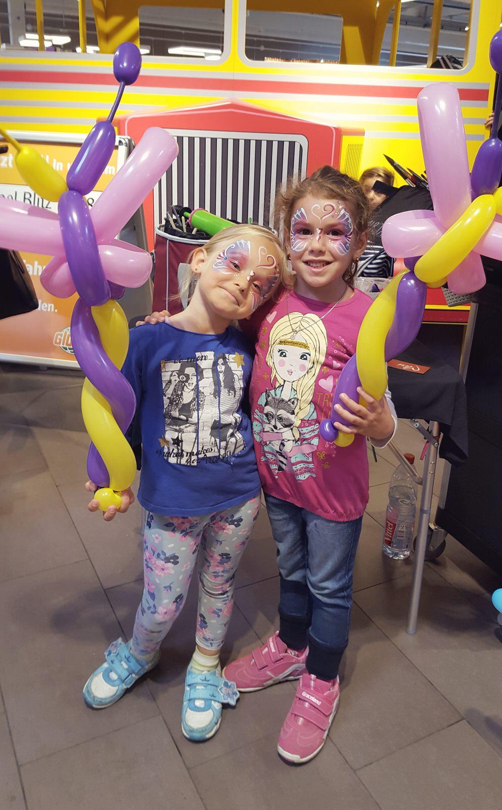 kinderschminkend Luftballonfiguren