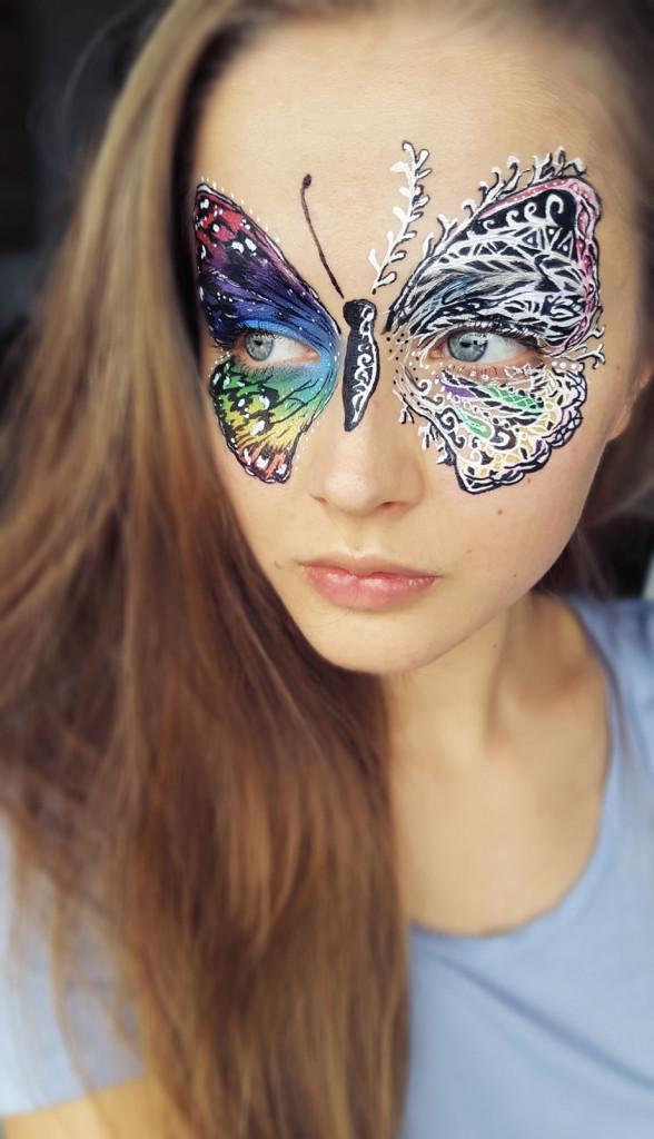 kinderschminken Schmetterling
