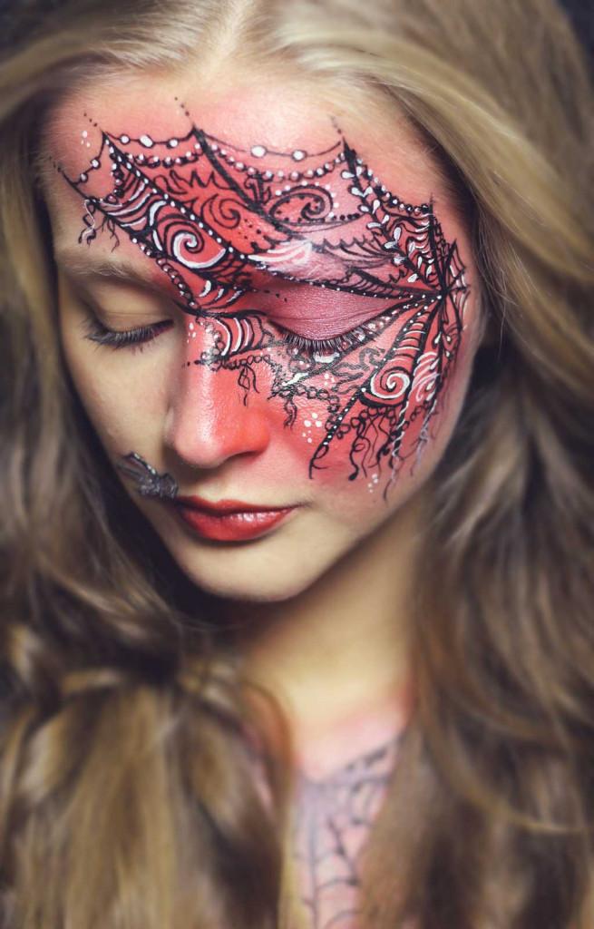 kinderschminken spiderwoman