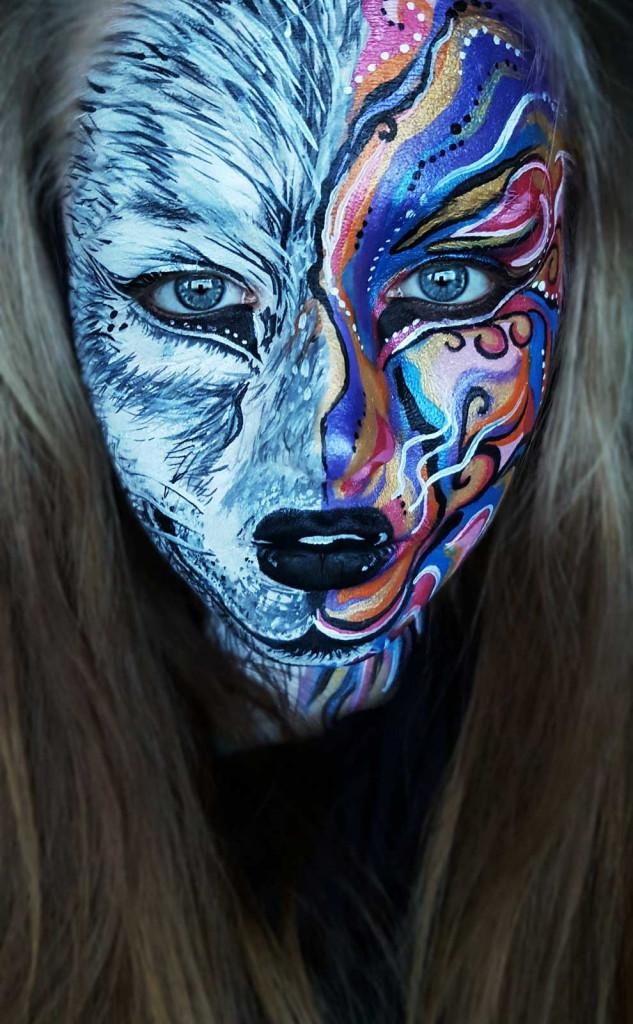 kinderschminken wolf